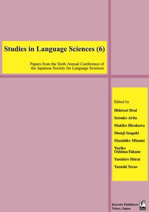 Studies in Language Sciences (6)